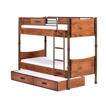 Pirate Bunk Bed & Pull-out Bed 90x200/90x190cm