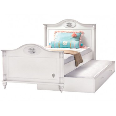 Romantic Bed & Pull-out Bed 100x200/90x190cm