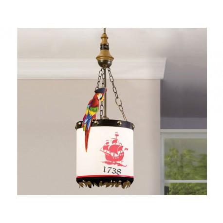 Luminária de teto Pirata preto -Candeeiros