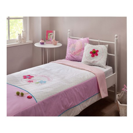Flora XL Bed cover (pink) -Bed covers