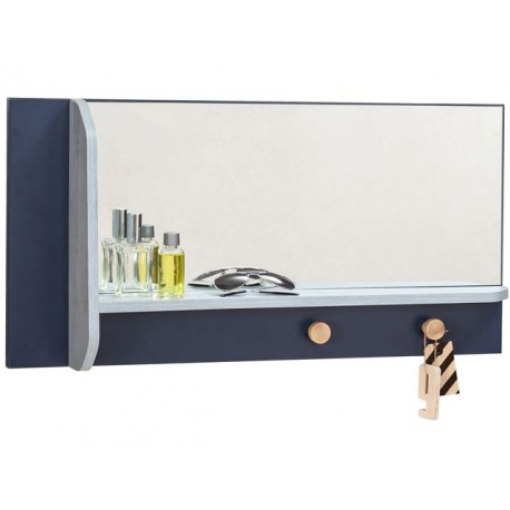 Trio Wall Mirror with Shelf -Mirrors