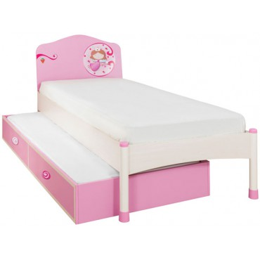 Princess bed and pull- out bed