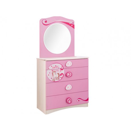 Princess Dresser with Mirror -Dressers