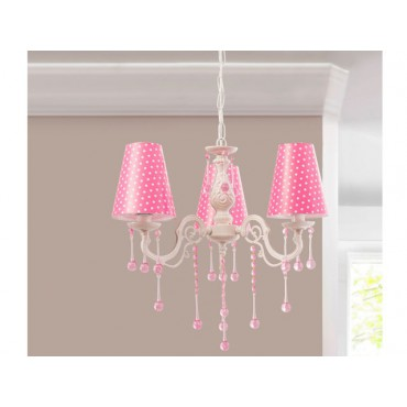 Dotty Ceiling Lamp (pink)