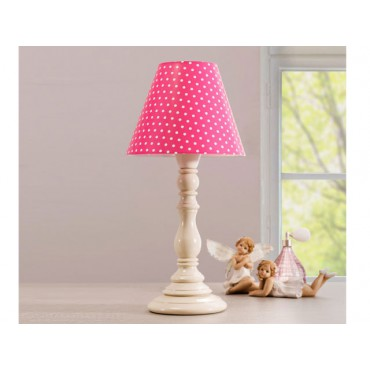 Lámpara de mesa Dotty rosa