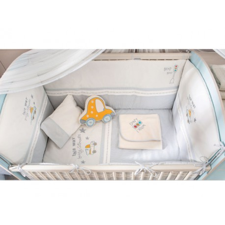 Juego de cama cuna con nido convertible Baby Boy -Cubrecamas