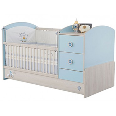 Baby Boy Convertible Baby Bed 75x160cm