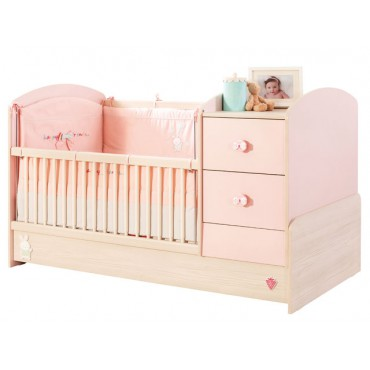 Baby Girl convertible baby bed