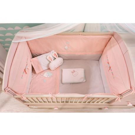 Jogo de cama berço conversivel Baby Girl (75x115cm) -Colchas