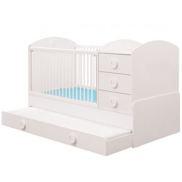 Baby Cotton convertible baby bed with parent bed