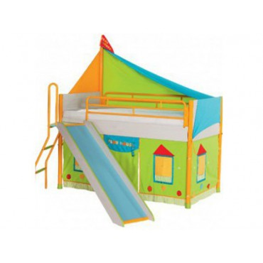 Playhouse single bed(90x180cm) with slide